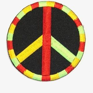 Other - Peace sign patch iron on rasta hippie retro DIY